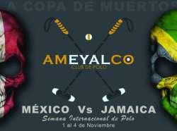 """Text:""""La Copa de Muertos"""" between Jamaica and Mexico..."""